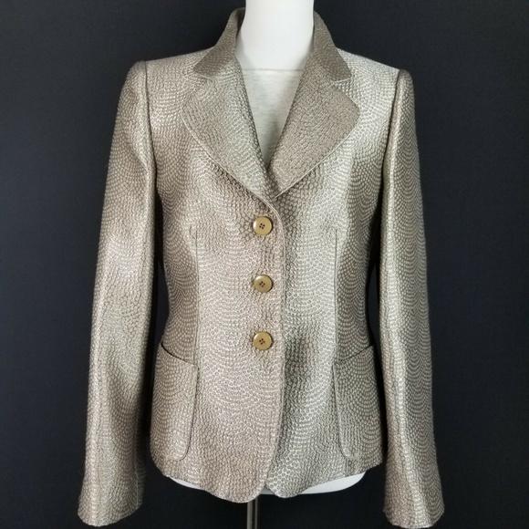 a94cfa04 Armani Collezioni Women's Blazer 44 / 8 Shimmer